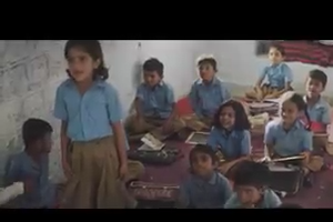 Primary School`s Students Studying in Classroom in India