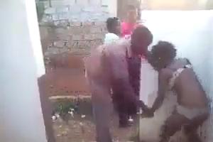 Black man beating a woman - Shameful Video