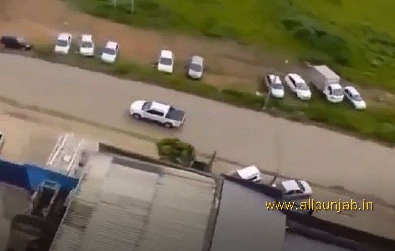 In Brazil -  Police engage a drug suspect from a helicopter