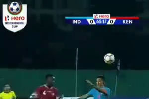 India VS Keneya  - Football Match