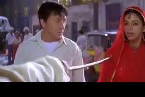 Mallika sherawat and Jackie Chan Fighting