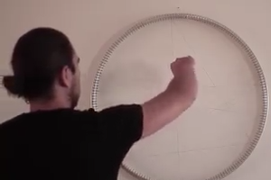 Man making face with thread -  Nice Talent