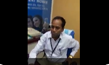 Man talking with Bank Manager in Office