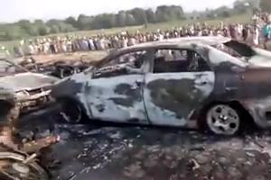 Oil tanker explosion in pakistan