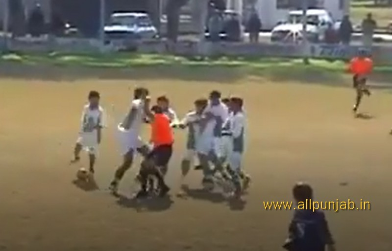 Referee Attacked By Players