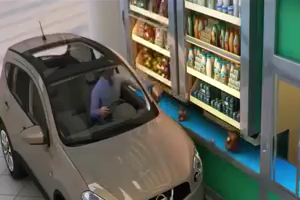 Watch how to do drive through shopping in future - Amazing