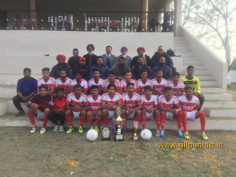S.Nagina Singh Jangi Memorial football tournament Paldi today win the final match